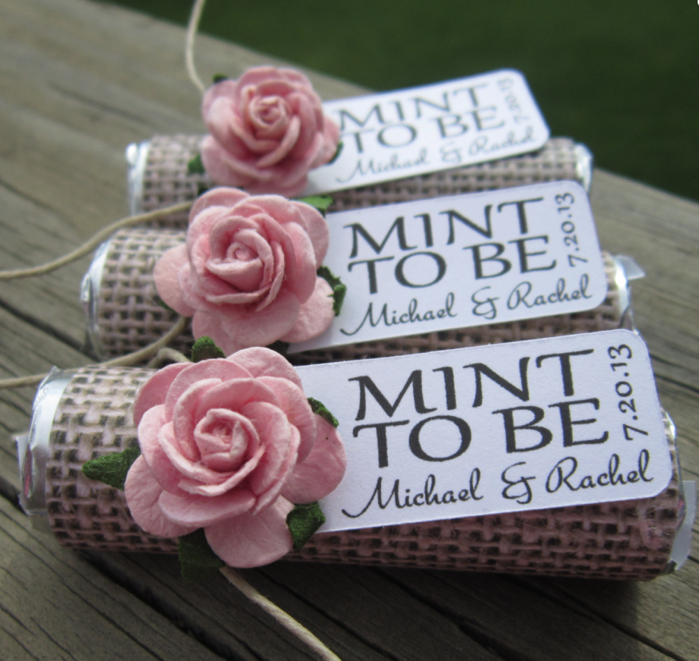 Wedding Favors: Unique Mint Wedding Favors