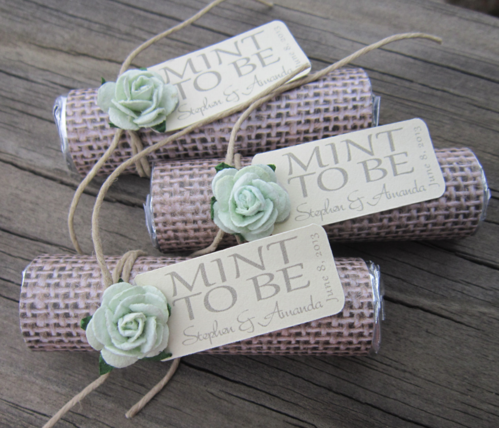 Ideas For Wedding Gifts: Unique Mint Wedding Favors