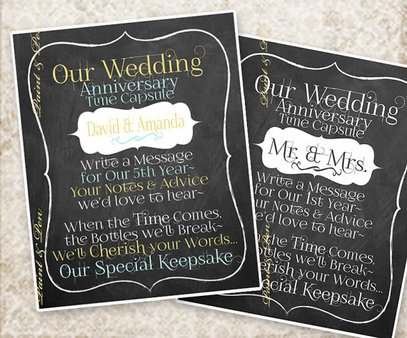 How To Make An Amazing 5 Year Wedding Anniversary Time Capsule