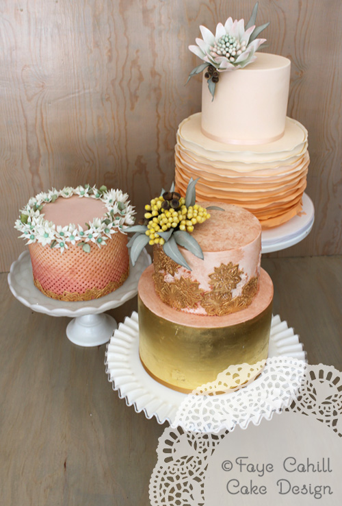 Beautiful Wedding Cakes From Faye Cahill Cake Design In Australia