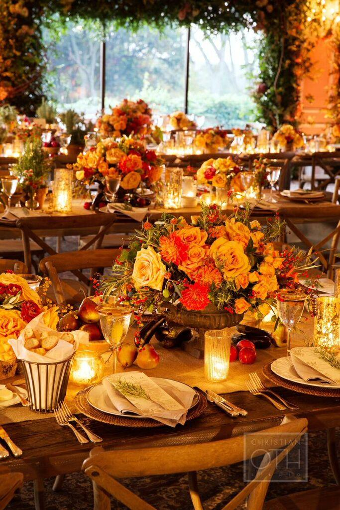 Autumn Festival Wedding Ideas: Elegant Autumn-Themed New York Wedding At Oheka Castle