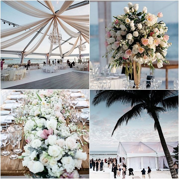Weddings In Mexico: Glamorous Mexico Destination Wedding By The Beach