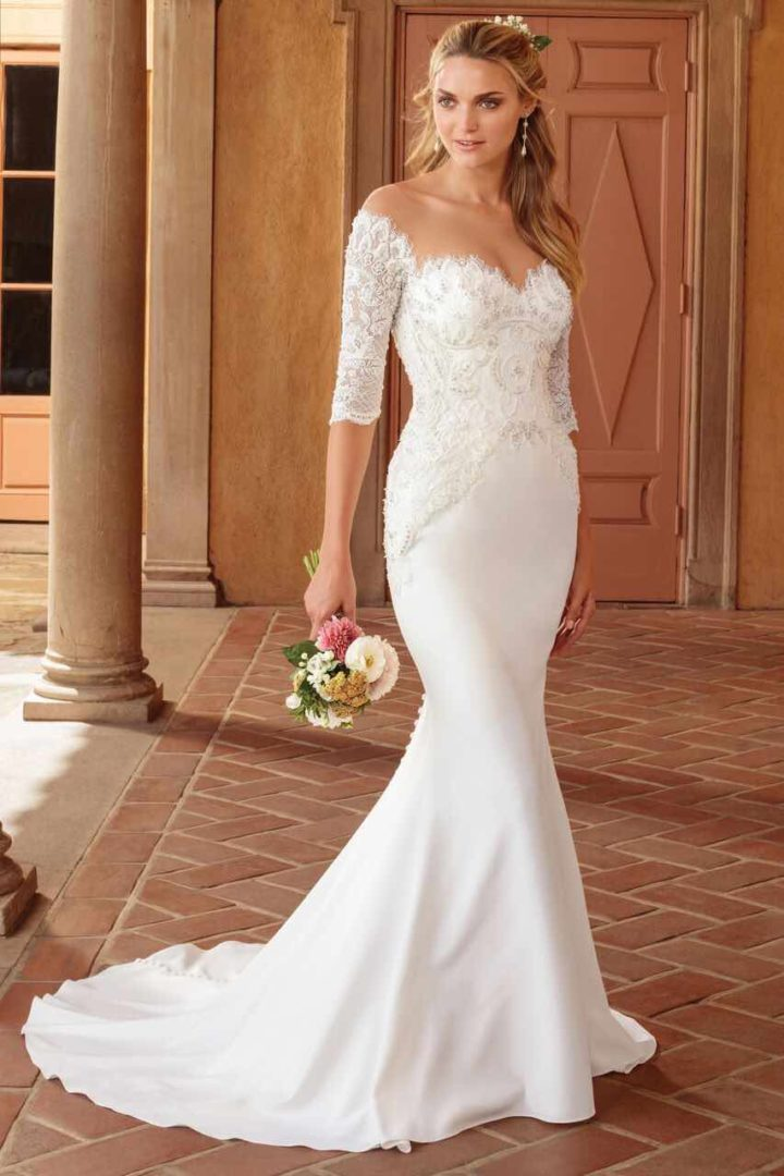 Wedding dresses with cathedral length train