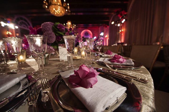 luxurious purple washington dc wedding modwedding
