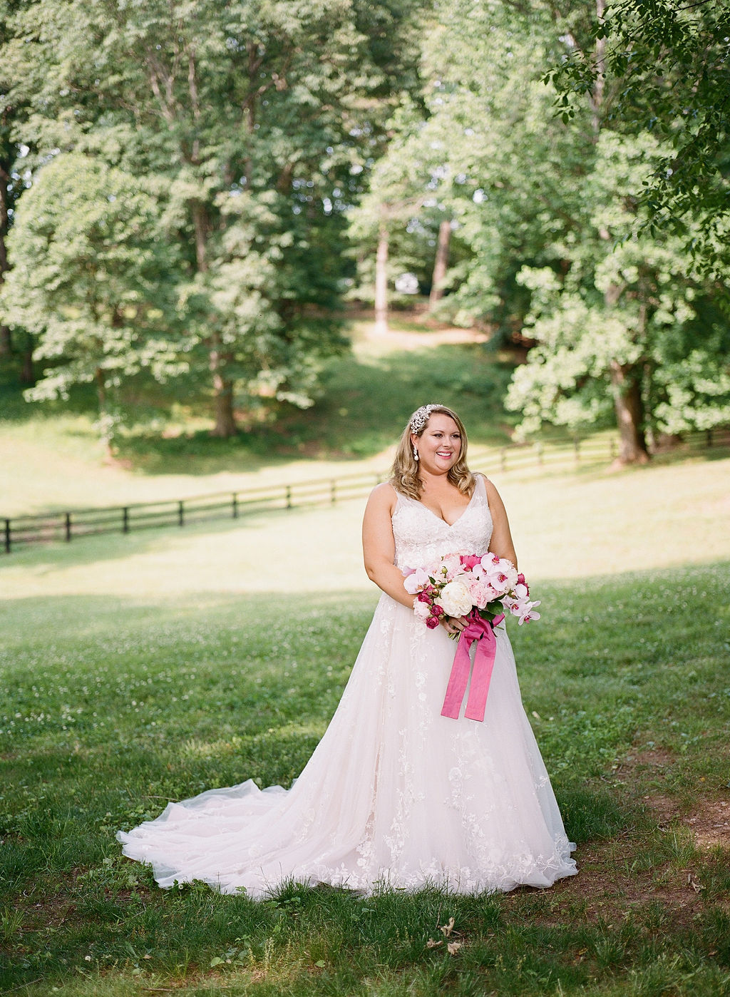 Dreamy Pink Floral Virginia Backyard Wedding in Charlottesville