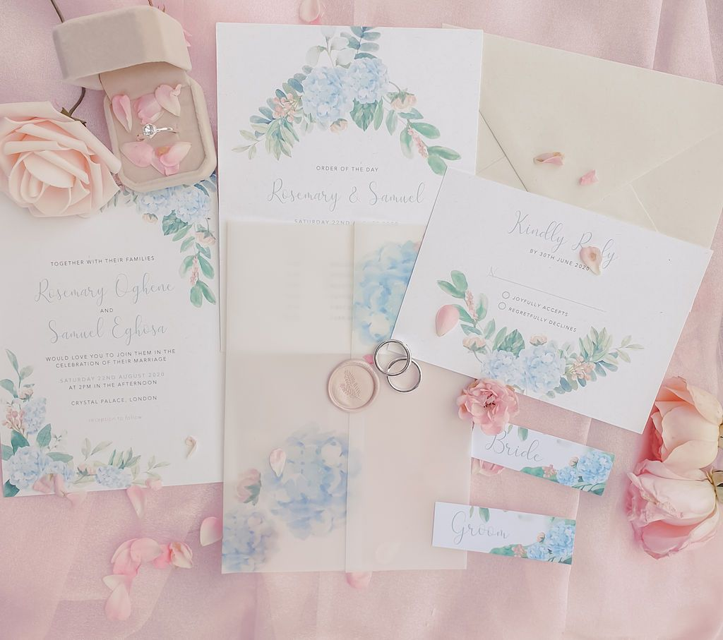 Intimate Blush and Blue Wedding: Forest Bloom Styled Shoot