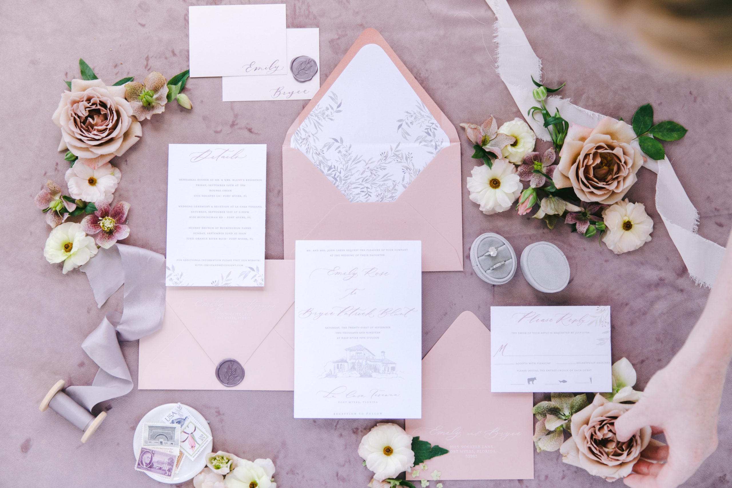 This Elegant Lavender and Blush Wedding Inspiration is Garden Perfection