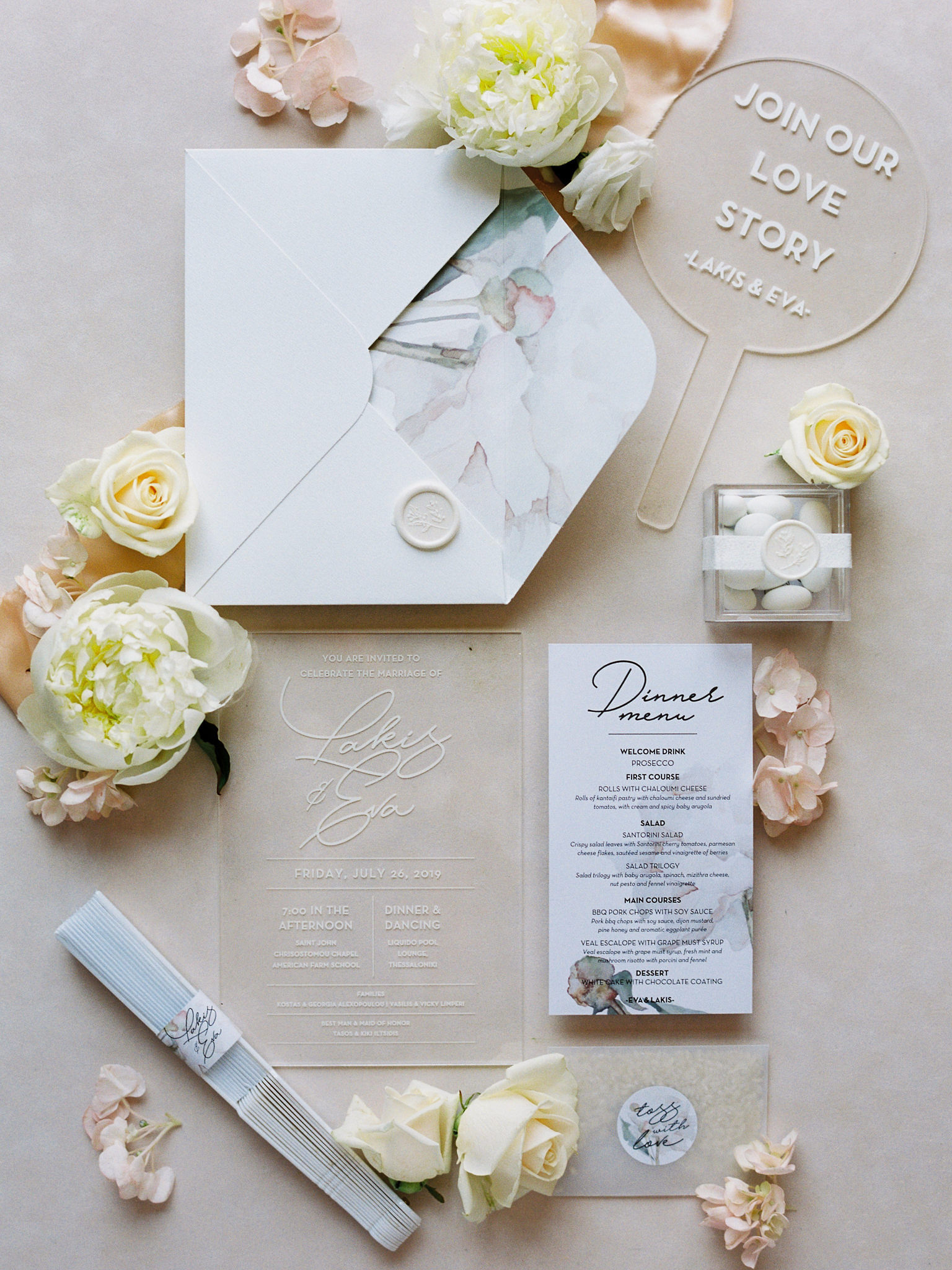 Modern Fairytale White and Blush Wedding in Greece
