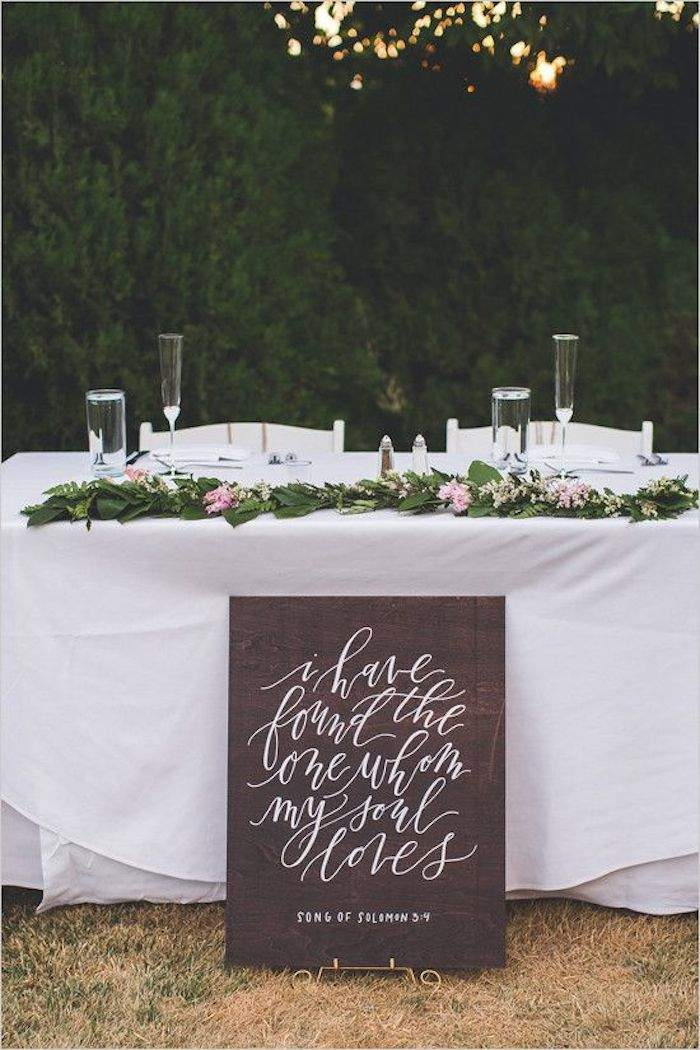 Creative Calligraphy Wedding Signs