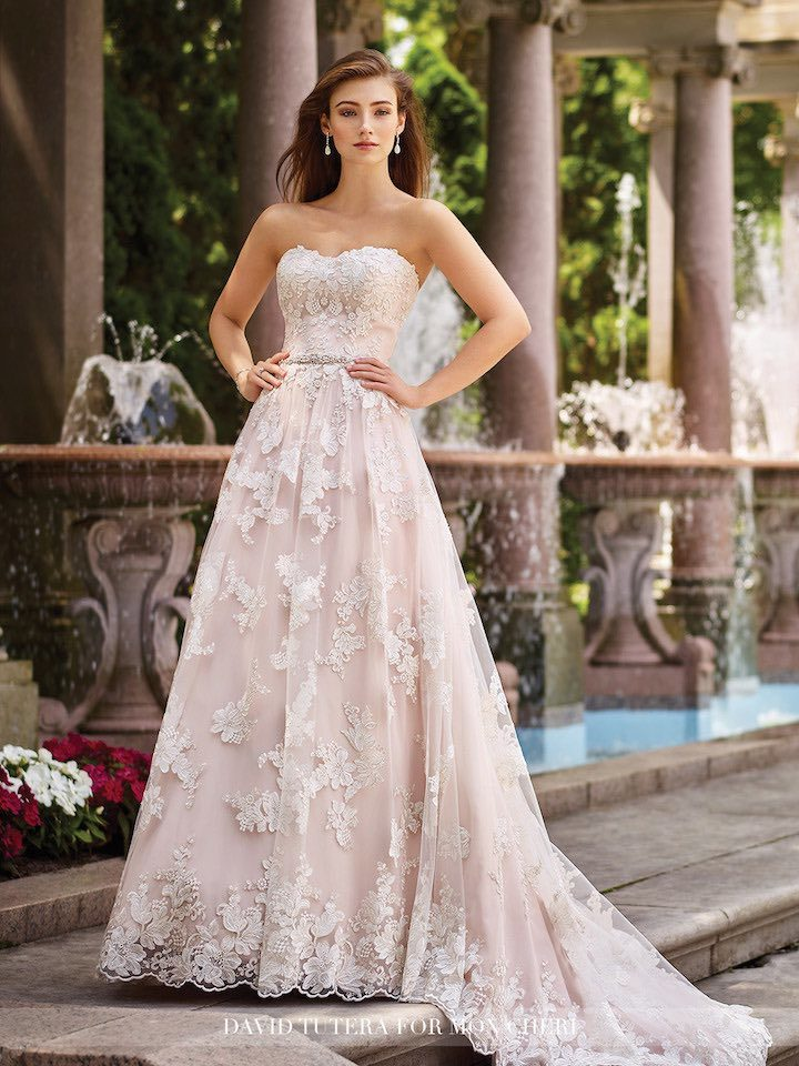 0afe306e219 2017 David Tutera for Mon Cheri Wedding Dresses - MODwedding