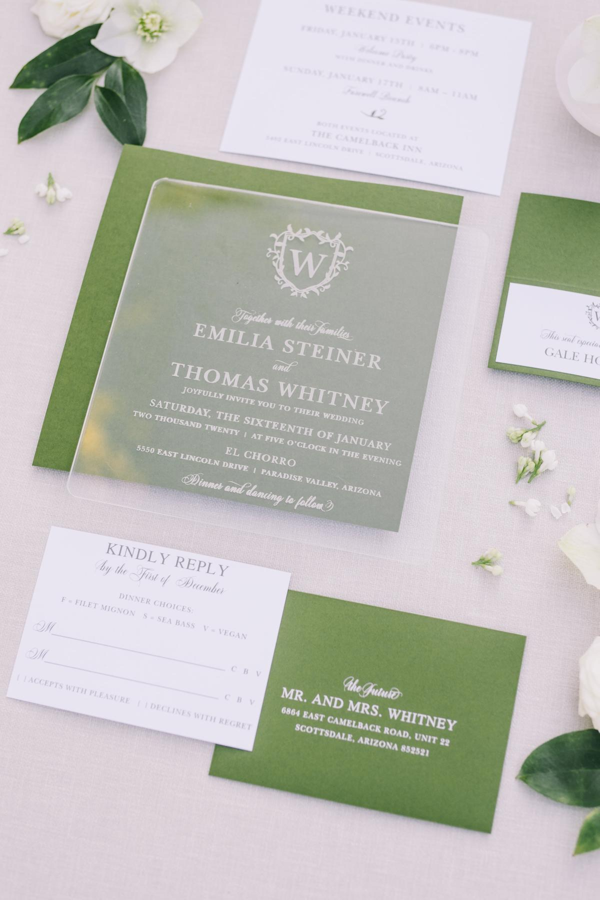 Chic Green Wedding Inspiration with Garden and Ballroom Glamour