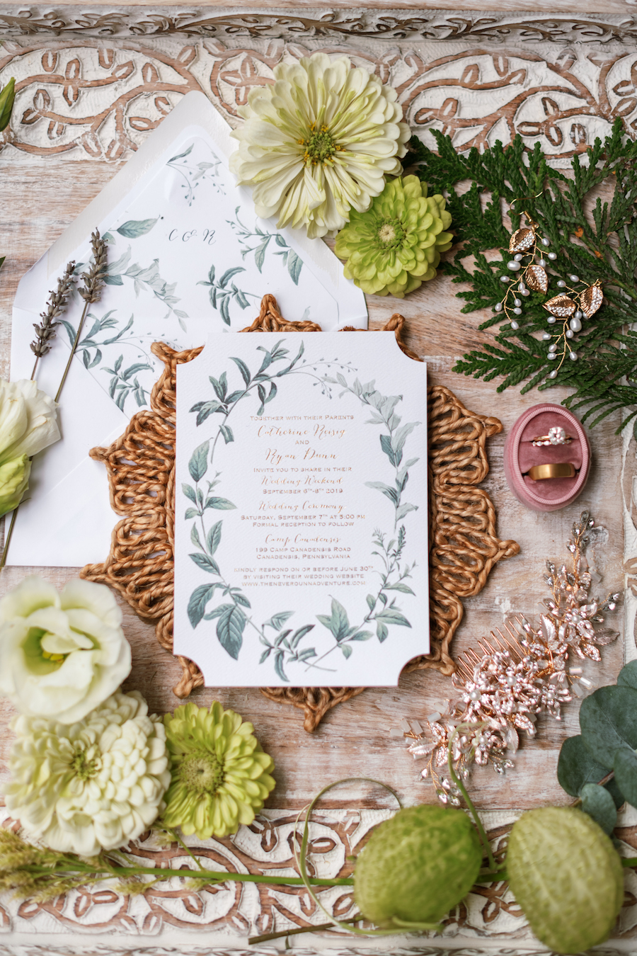 This Adventurous Couple Had a Rustic Lakeside Wedding in the Pocono Mountains