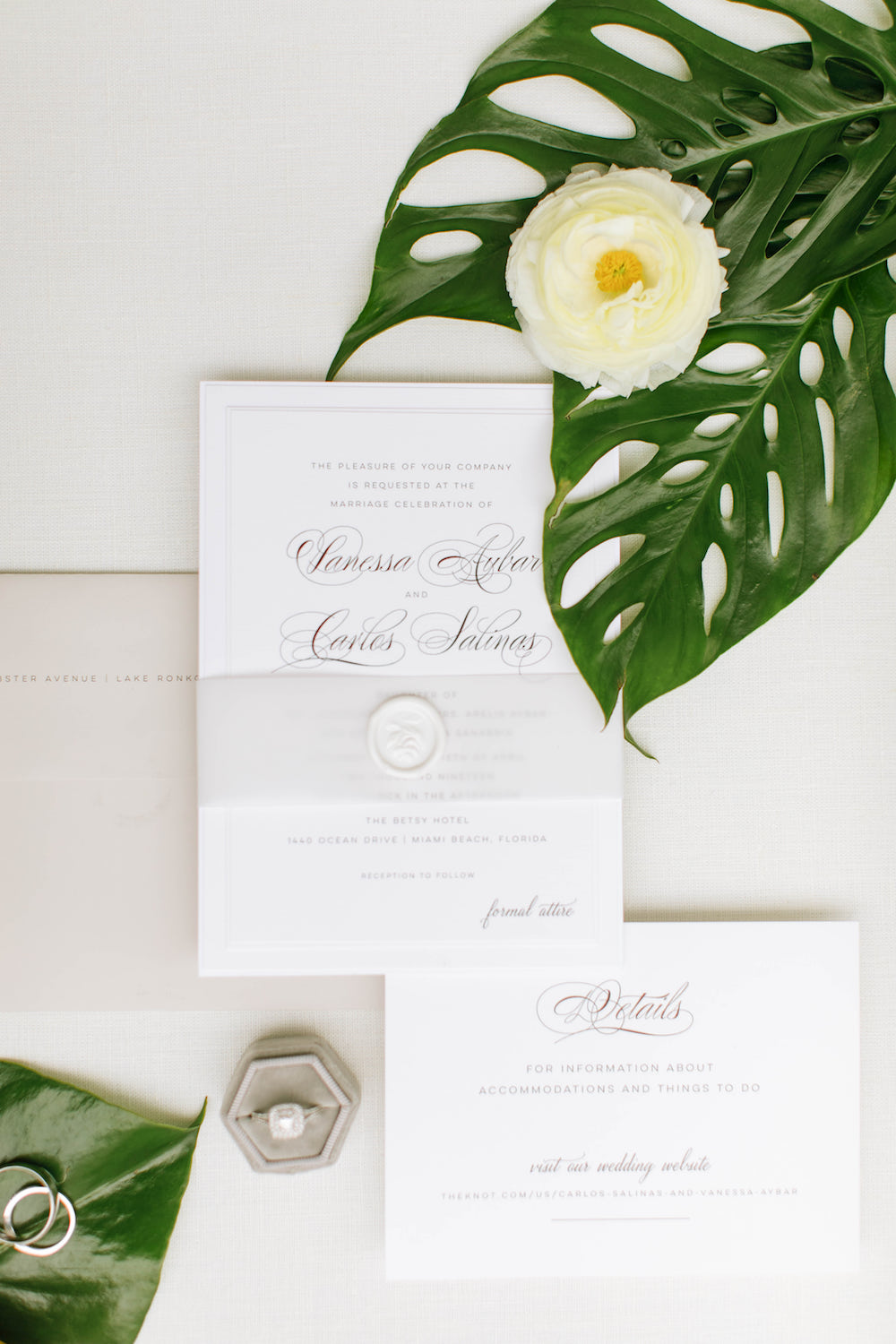 Charming Greenery-Filled Miami Wedding with Understated Glamour