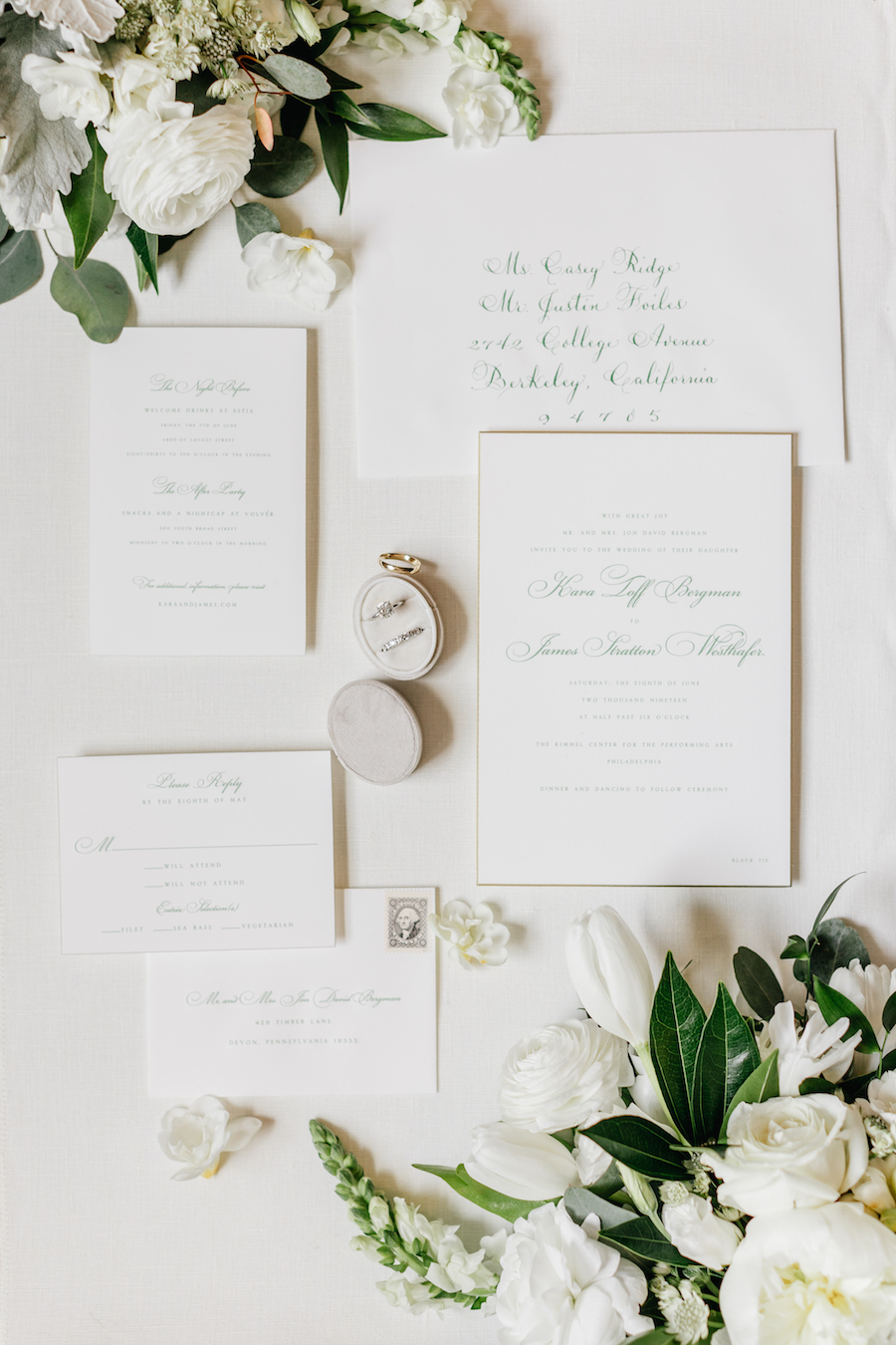 This Greenery Filled Modern Wedding is a Black Tie Jungle Affair