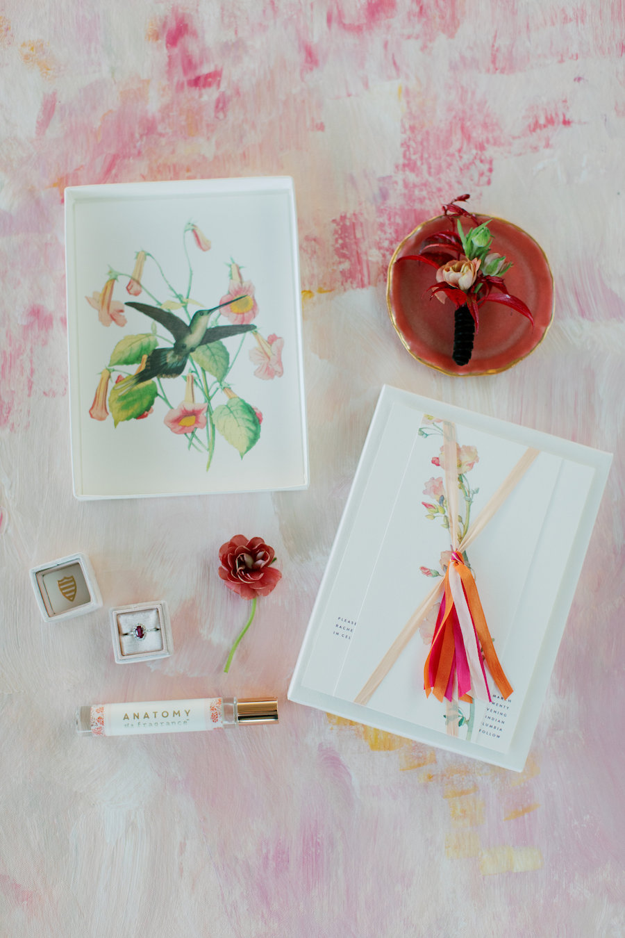 Chic Orange, Blush and Red Floral Modern Wedding Inspiration Shoot