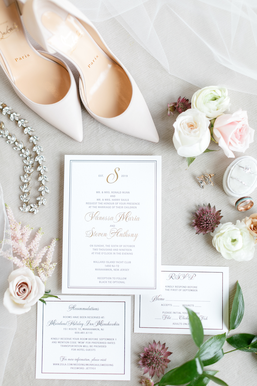 Timelessly Chic Ivory New Jersey Wedding at the Mallard Yacht Club