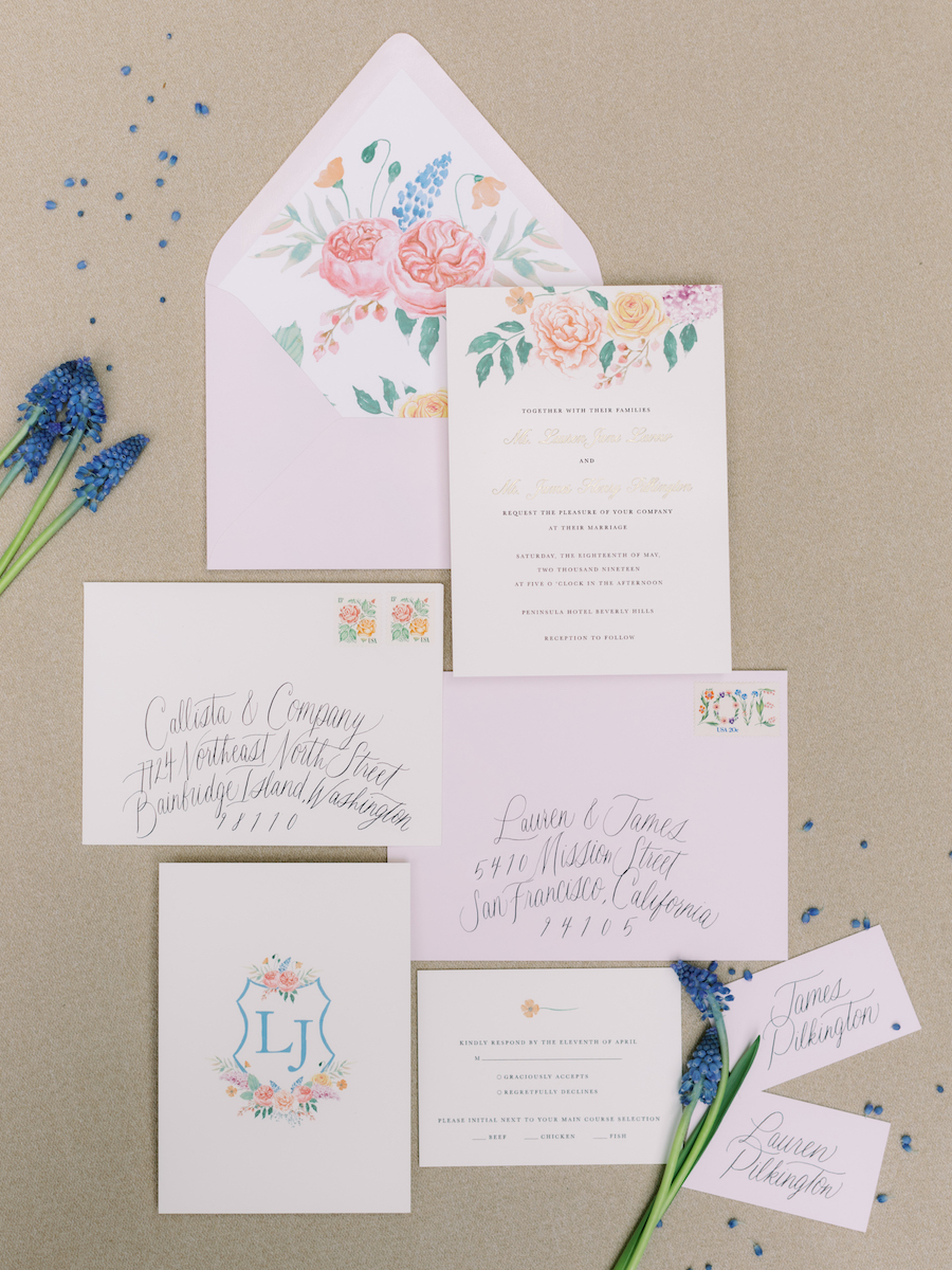 Chic Colorful Pastel Wedding at The Peninsula in Beverly Hills