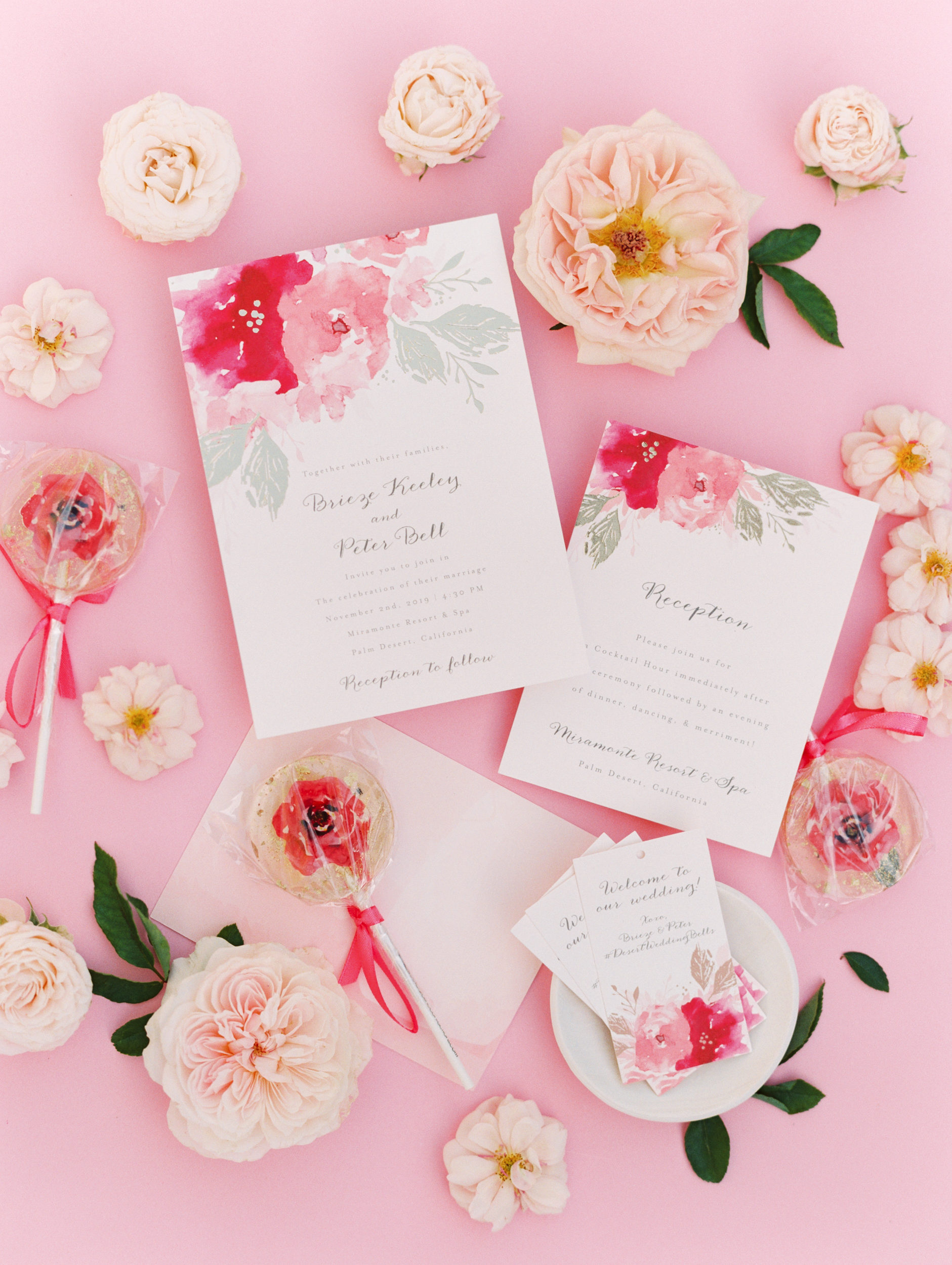 Gorgeous Blooming All Pink Wedding in Palm Springs
