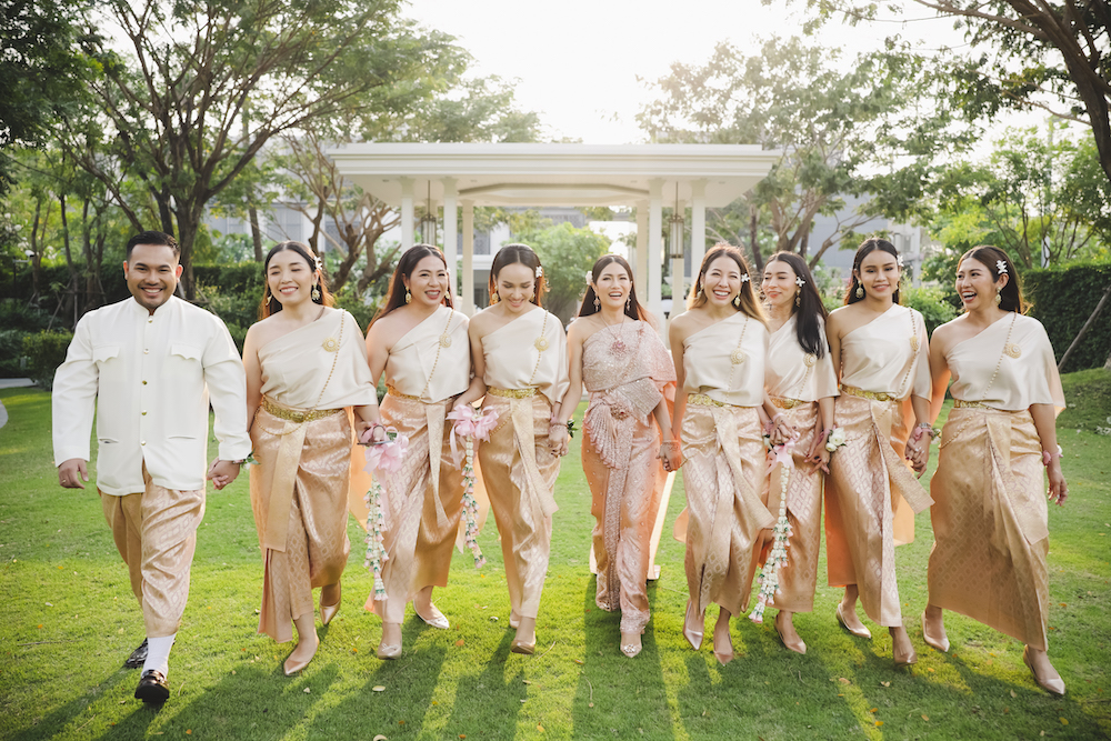 Lush Floral Moon Takes Over This Thailand Wedding on the Beach