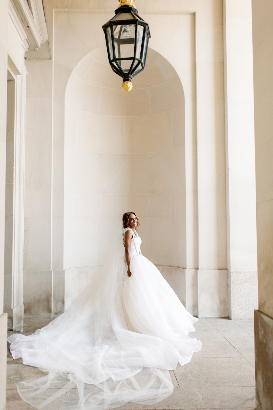 Glamorous Gold Mirror Washington DC Wedding at the Andrew Mellon Auditorium