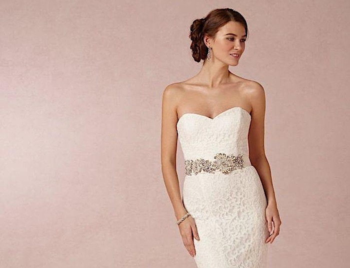 Beige Lace Bhldn Wedding Dress Or Bridesmaid Gown: Vintage Lace Wedding Dresses From BHLDN