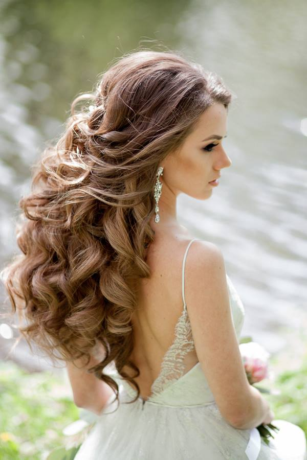 Image result for voluminous wavy hair wedding
