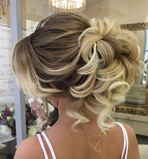 Curly Updo Hairstyles For Weddings: Curly Updo Wedding Hairstyle