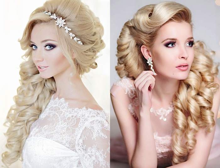 Glamorous Wedding Hairstyles With Curls