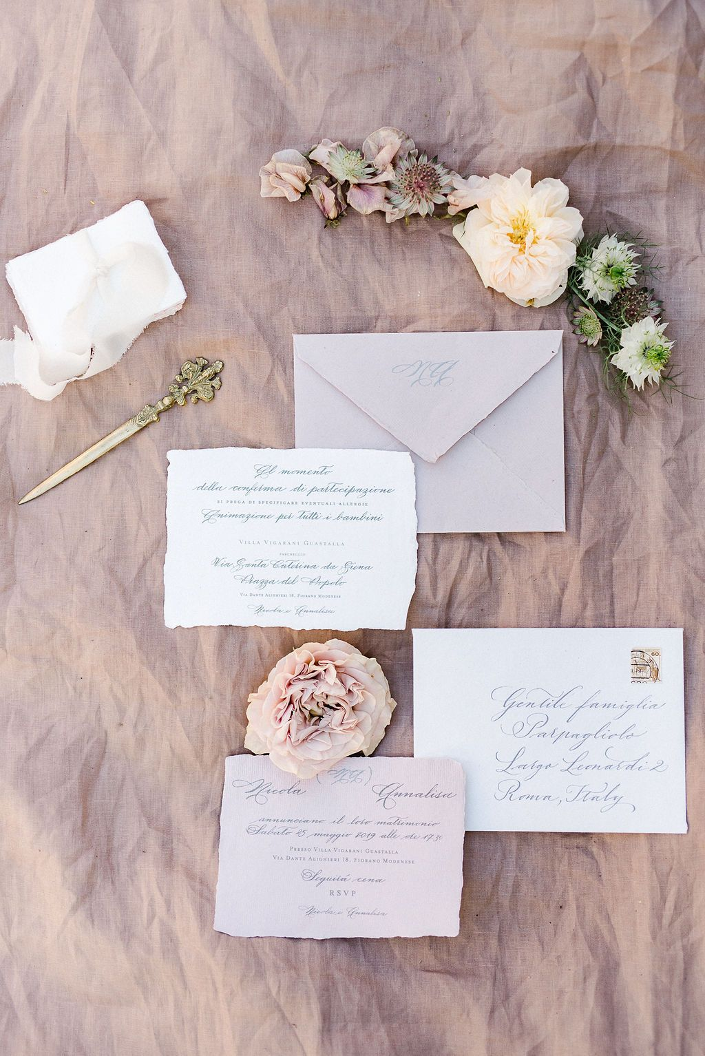 Natural Whimsical Wedding Inspiration in Greece