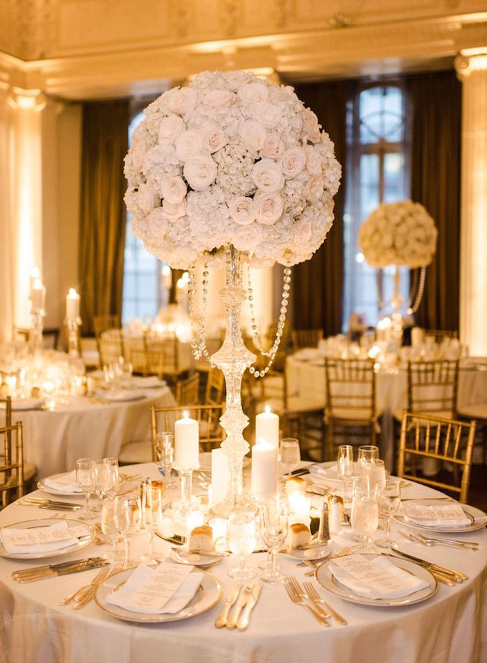 White Wedding Ideas With Class And Charm